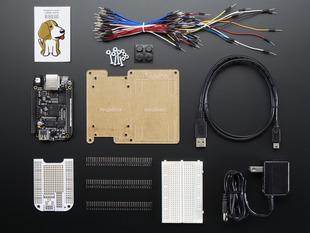 Adafruit Beagle Bone Black Starter Pack with dev board, proto cape, sticker, wires, breadboard and more