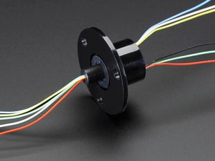 Slip Ring with Flange and 6 wires