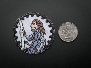 Ada Lovelace - Skill badge, iron-on patch