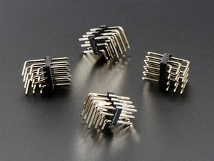 3x4 Right Angle Male Header - 4 pack