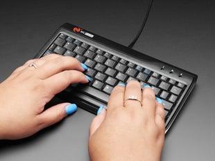 Miniature Keyboard- Microcontroller in use