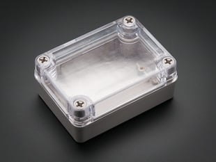 Small Plastic Project Enclosure - Weatherproof with Clear Top