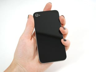 Black No-Logo iPhone Replacement Back - iPhone 4