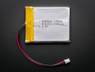 Lithium Ion Polymer Battery - 3.7v 2600mAh