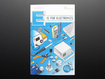 Front cover of an alphabet coloring book with various electronic items.