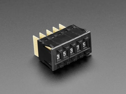 Pack of 5 Small Mechanical Decade Counters