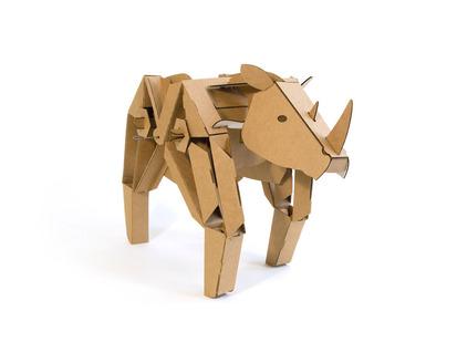 Rory the Rhino cardboard robot