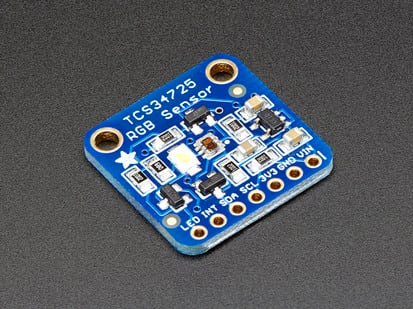 RGB Color Sensor with IR filter and White LED. TCS34725 breakout
