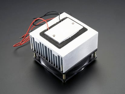 Peltier Thermo-Electric Cooler Module with Heatsink Assembly and four wires