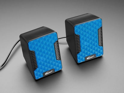 Two square-ish USB Powered Speakers