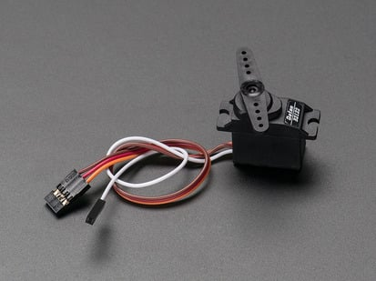 Metal Gear Analog Feedback Micro Servo with three pin cable and one pin cable