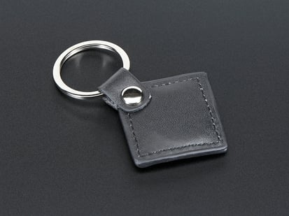 Leather Keychain Fob with keyring