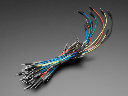 Bundle of multi-colored multi-length wire jumpers