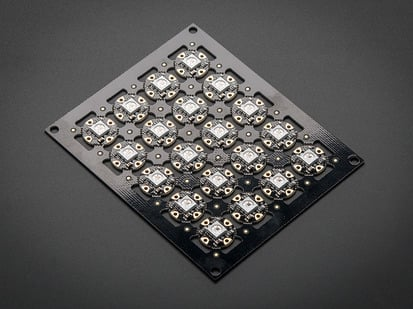 Sheet of 20 Flora RGB Smart NeoPixels