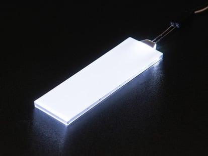 Medium rectangular glowing LED