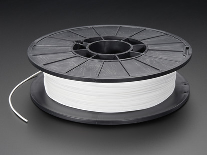 Spool of NinjaFlex Filament for 3D Printers - snow white color with 1.75mm Diameter.