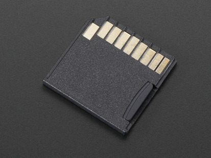 Black Shortening microSD card adapter for Raspberry Pi & Macbooks