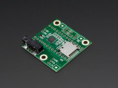 Angled shot of Audio Adapter Board for Teensy 3.x