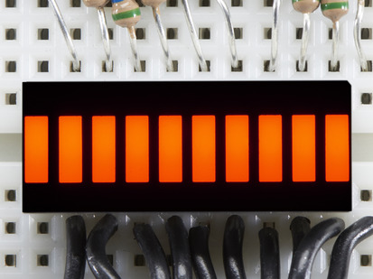 Amber Lit up 10 Segment Light Bar Graph LED Display