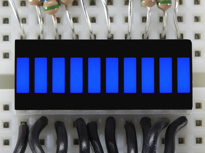 Blue Lit up 10 Segment Light Bar Graph LED Display