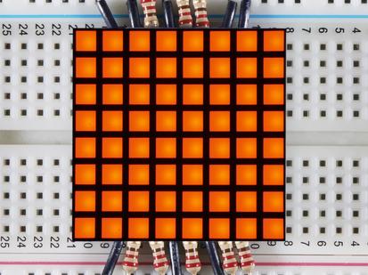 "1.2"" 8x8 Matrix Square Pixel - Amber."