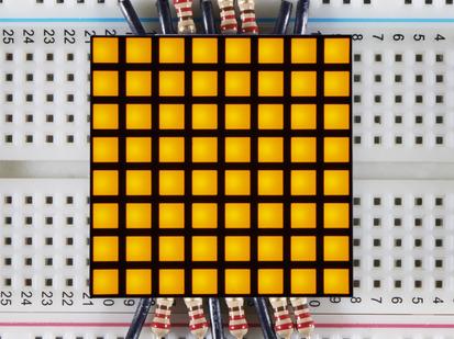 "1.2"" 8x8 Matrix Square Pixel - Yellow."