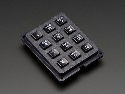 Black 3x4 Phone-style Matrix Keypad