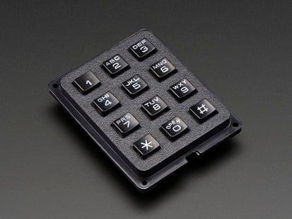 Black 3x4 Phone-style Matrix Keypad