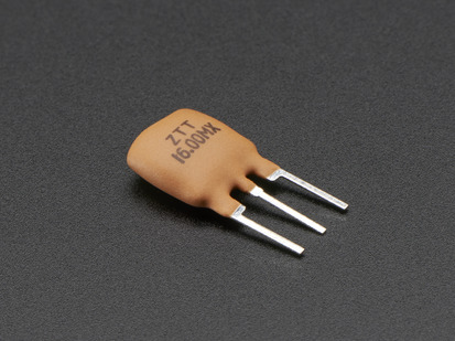Three pin 16 MHz Ceramic Resonator