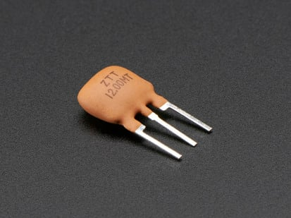 Three pin 12 MHz Ceramic Resonator