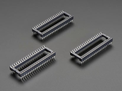 Pack of 3 IC Sockets for 40-pin 0.6 inch Chips
