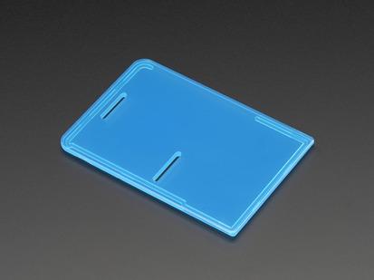 Angled shot of Raspberry Pi Model B+ / Pi 2 / Pi 3 Case Lid in blue.