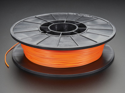 Spool of NinjaFlex Filament for 3D Printers - liquid hot lava color with 1.75mm Diameter.