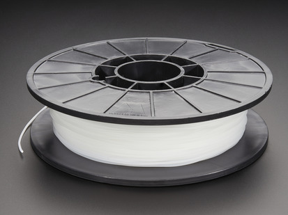 Spool of NinjaFlex Filament for 3D Printers - semi translucent white color with 1.75mm Diameter.