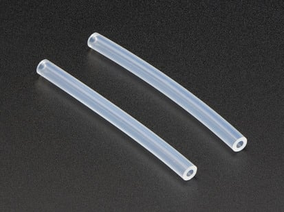 Two pieces of silicone tubing