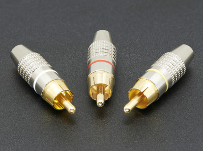Three DIY RCA metal Plugs