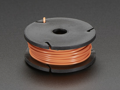 Small spool of orange wire