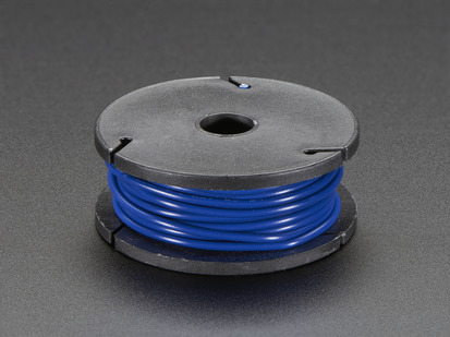 Small spool of blue wire