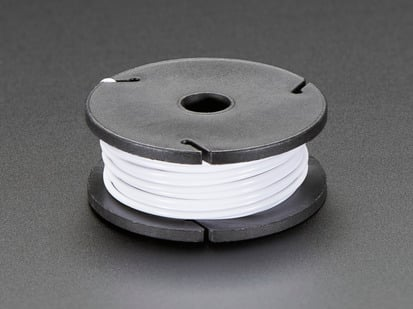 Small spool of white wire