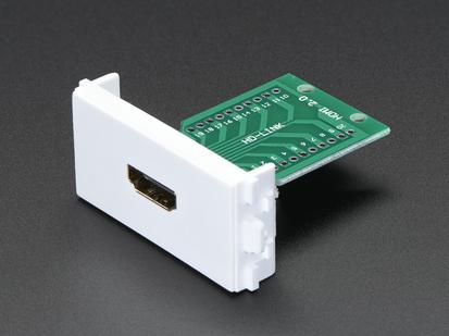 Panel Mount HDMI Socket Breakout front showing socket