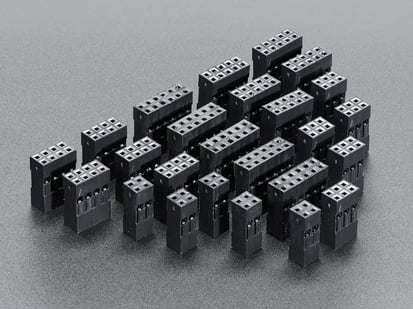 Collection of many Dual Row Wire Housing Packs