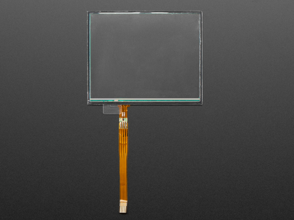 Rectangular Resistive Touch screen with long flex cable