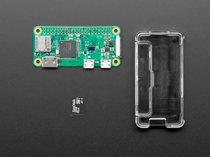 Raspberry Pi Zero, SD card and case