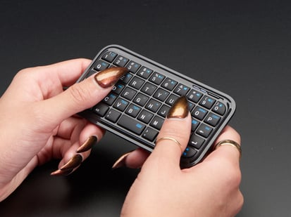 Mini Bluetooth Keyboard – Black colored