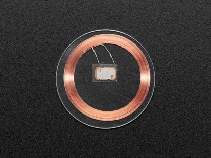 Clear disc with copper coil inside