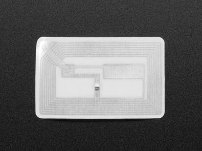RFID sticker with coil imprinted