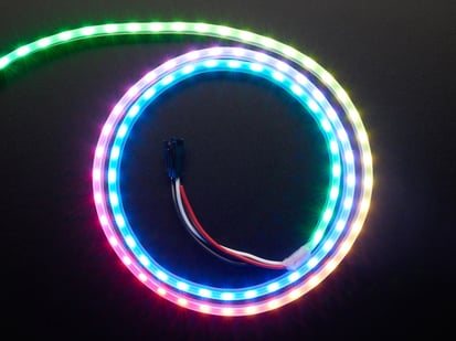 Adafruit NeoPixel Digital RGB LED Strip with all the LEDs in a rainbow