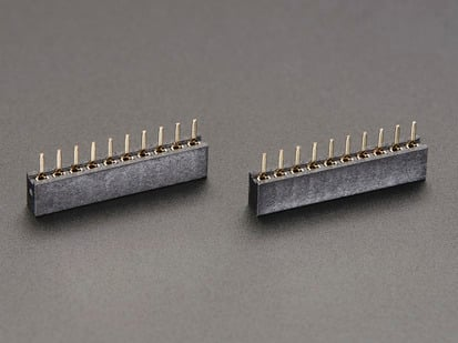 Pack of two, 2mm 10 pin Socket Headers