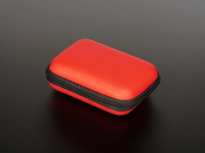 Maker-Friendly Zipper Case in Red