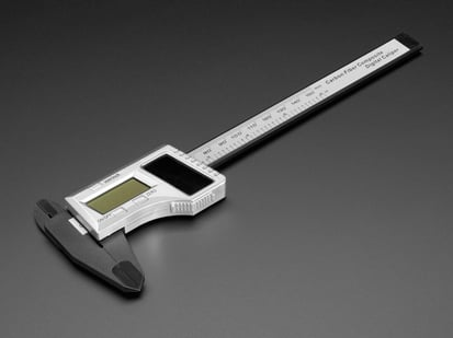 Solar Digital Calipers with black jaws
